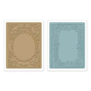 Sizzix Tim Holtz 657845 Book Covers Set Embossing Folders 2PK