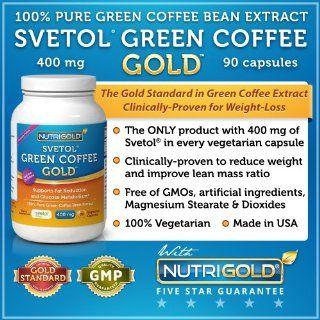 SVETOL Green Coffee Bean Extract, 90 Vegetarian Capsules
