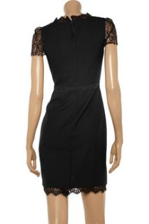 Rebecca Taylor Lace detailed twill dress   45% Off