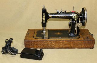United Special Electric New Home Sewing Machine w Hamilton Motor NR