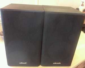 SPEAKERS Polk Audio R1 Matched Pair 2 Way Bookshelf Or Wallmount Home
