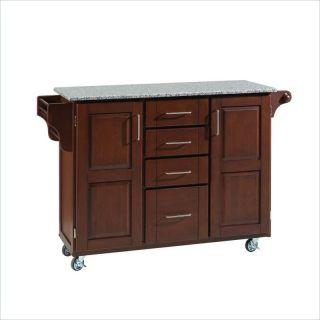 Home Styles Furniture Salt & Pepper Granite Cherry Kitchen Cart