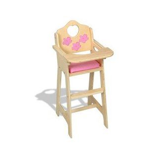 Dreamtime Baby Doll Pink High Chair: Toys & Games
