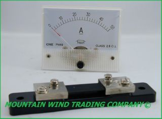 DC 50 Amp Meter Analog for Wind Turbine Generator Solar