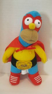 The Simpsons 9 Homer in Cape Mask Plush Toy Doll RARE