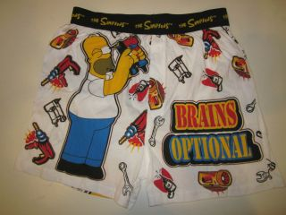 NWOT HOMER SIMPSON Mens funny comfy cotton boxer shorts sleepwear M W
