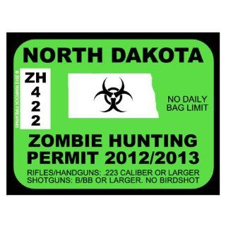 North Dakota Zombie Hunting Permit 2012 (Bumper Sticker