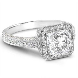 2.06 Ct. Radiant Cut Diamond Engagement Ring D, SI2 (EGL