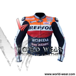 Honda Repsol One Heart motorbike Leather Racing Jacket