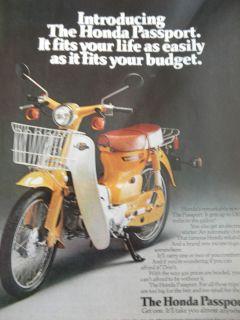 1970s Honda Passport motorcycle magazine advertisement scooter moped