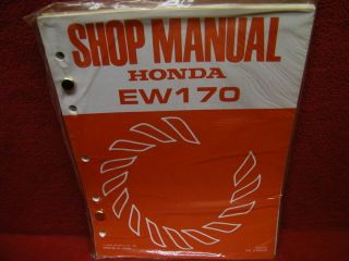 HONDA / WELDER SMALL ENGINE SHOP & SERVICE MANUAL + PARTS ,MODEL #EW