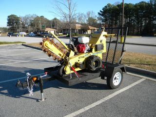 2004 Vermeer RT100 Walk Behind Trencher NEW HONDA ENGINE Trailer is