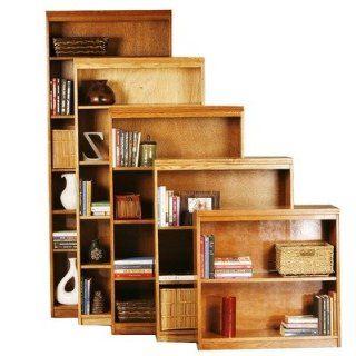 Oak Open Bookcase Finish Medium Oak, Size 67