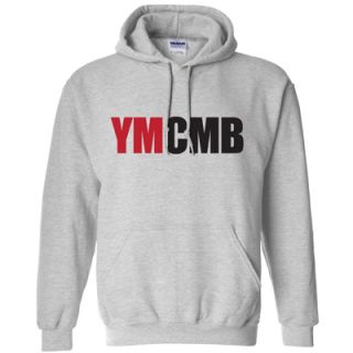 YMCMB Hoodie Young Money Lil Weezy T Wayne Shirt Gray