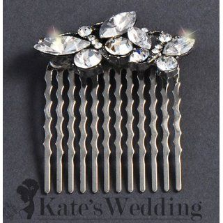 Bridal Wedding Side Comb Double Butterfly Rhinestone