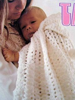 BABY CROCHET KNITTING PATTERNS Snowflake Hooded Cape Jacket Beret