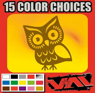 Owl Vinyl Sticker Decal Car Truck Cute Wall Hoot Wise