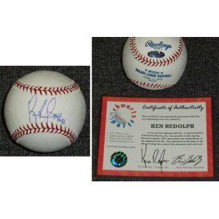 Ken Rudolph Signed MLB Baseball w/69 Cubs