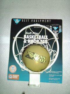 NITTANY LIONS SOFT BASKETBALL HOOP NET INDOOR DORMROOM NIP BACKBOARD