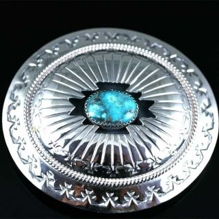 Native American Jewelry Turquoise Nugget Belt Buckle