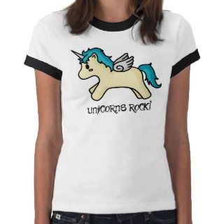 Unicorns Rock Blue T shirt