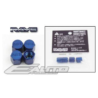 Volk Racing Volk Rays Wheel Rim Valve Stem Cap Blue Color Universal