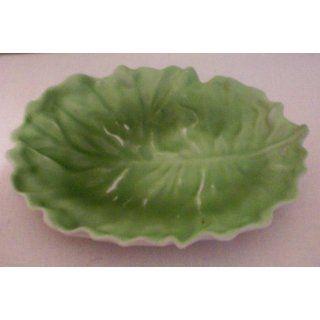 VINTAGE Royal Bayreuth Bavaria Majolica Green Leaf [approx