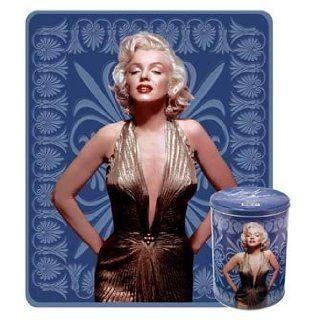 Marilyn Monroe Saphire Blue 2pc Throw Blanket Fleece