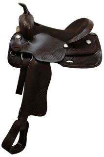 Youth Pleasure Trail Saddle New by TT in Dark Oil Horse Tack 49