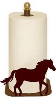 Horse Paper Towel Holder Counter Top Style Western Ranch Horse Kitchen