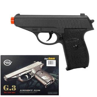G3 Heavy Metal Airsoft Pistol Gun 6 Long: Sports