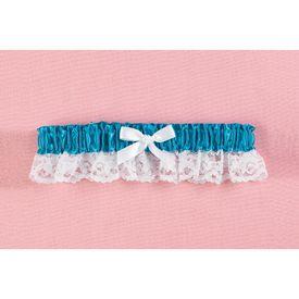 Hortense Sapphire Blue Ribbon Lace Bridal Prom Garter
