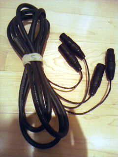 10 Ft 2930 Wire Mogami 2 Channel Studio Snake Cable XLR male XLR