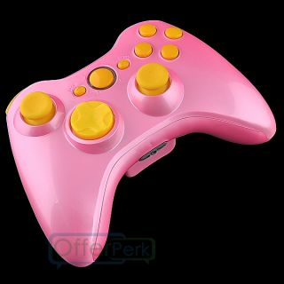 Full Housing Case for Xbox 360 Glossy Pink Controller Shell with