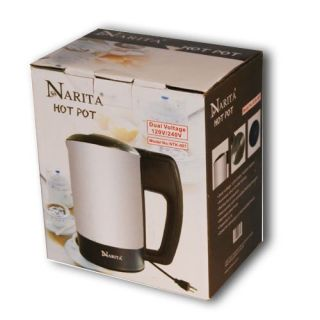 Narita International Electric Hot Pot Water Kettle 1000W Dual Voltage