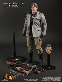 New Hot Toys 12 The Terminator T1 T800 T 800 MMS136 1 6 Machine Gun