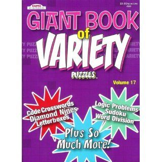 Giant Book of Variety Puzzles   Volume 17 114 Pages of