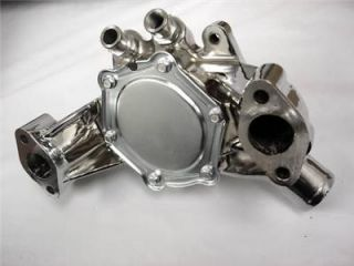 BB CHEVY CHROME ALUMINUM LONG WATER PUMP LWP CHEVROLET HOT STREET ROD
