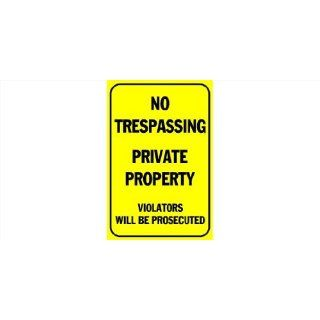 3x6 Vinyl Banner   No Trespassing, Private Property