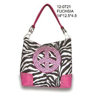 Handbags Purse Zebra Print Peace Sign Tote Bags: Toys