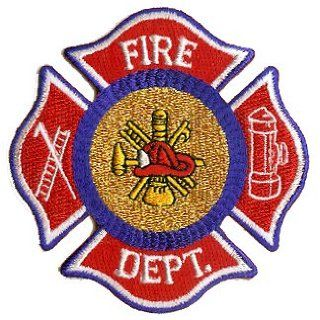 2.5 Red Blue Fire Department Seal Symbol Logo Patch