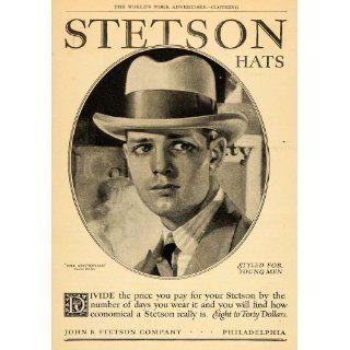 1926 Ad John B. Stetson Stetsonian Hats Philadelphia
