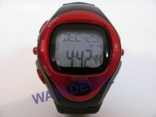 New Pulse Heart Rate Monitor Calories Counter Fitness Watch Red 02
