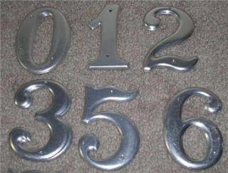 35 Unused Vtg Art Deco Aluminum House Address Numbers