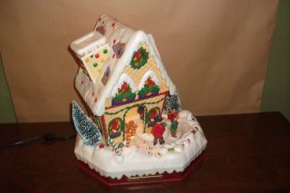 Animated Gingerbread House Skating Boy Girl Kids Candy Lighted Musical