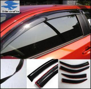 02 08 Dodge RAM Quad Cab Window Vent Visors Deflector