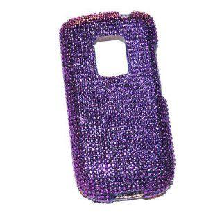 New Purple Sparkling Rhinestones Full Diamond Bling Htc