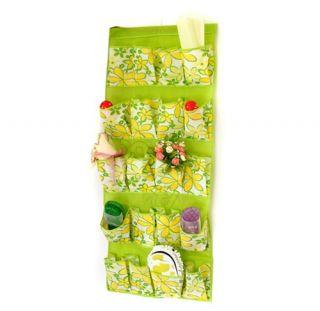 Door Shoe Storage Bags Hanging Handbag Home Organizer Closet Green Bag