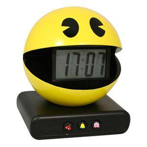 New 80s Retro Pacman Alarm Clock Pac Man