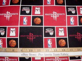 Houston Rockets 100 Cotton Fabric NBA Basketball Sports